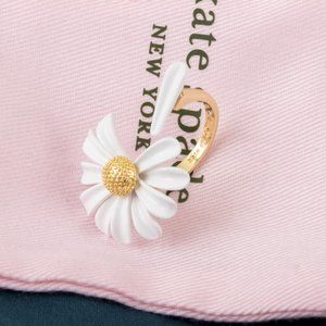 Kate Spade in to the bloom flower ring size 7